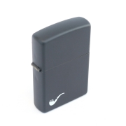 Bricheta Zippo personalizata Black Matte Pipe Lighter