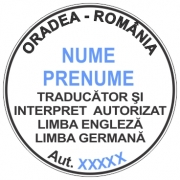 Stampila traducator si interpret autorizat 30 mm.