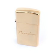 Bricheta Zippo personalizata Slim High Polish Brass